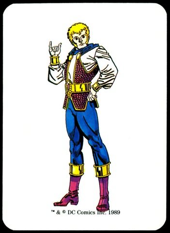 1989 Mayfair Games DC Heroes Jericho Character Card Front